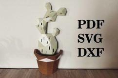 3d cactus, wall decor, papercraft cactus,cut model Product Image 1