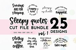 Funny Sleepy Quote SVG Bundle Volume 1 | Nap Quotes Product Image 1