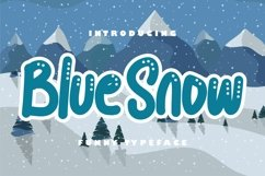Blue snow | Funny Typeface Product Image 1
