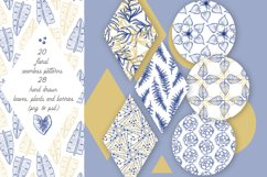 Elegant floral seamless patterns and hand drawn elements Product Image 1