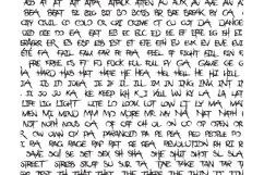 Dejecta typeface layout 5