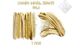 Luxury Gold Brush Strokes Clipart Product Image 1