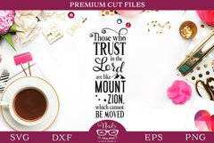 Religious Quote Psalm 125 SVG Cut File Product Image 1