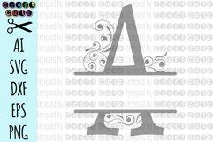 SVG Ornamental Split Monogram Alphabet, Split Ornamental Monogram, Monogram Letters - Cut Files for Silhouette, Cut Files Cricut Machines Product Image 2