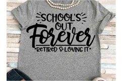 Teacher SVG DXF JPEG Silhouette Cameo Cricut Retired School Product Image 1