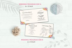 Wedding Invitation Set #5 Watercolor Floral Flower Style Product Image 5