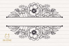Flower Wreaths SVG Bundle , Flower monogram cut file Product Image 3