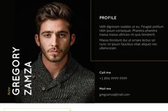 2 Actor Indesign Resume Templates Product Image 4