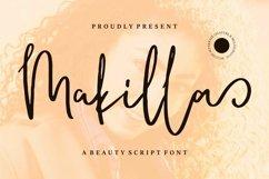 Web Font Makilla - A Beauty Script Font Product Image 1