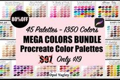 Procreate Color Palette Bundle -MEGA Pack 1350 Colors Product Image 1