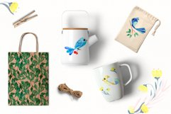 """Watercolor set """"Colored birds"""" Product Image 5"""