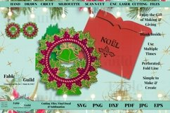 Layered Vintage Wreath SVG Christmas Card Decal 3D Cut File Product Image 4