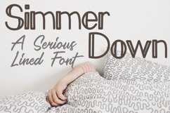 Simmer Down Lined Sans Serif Font Product Image 1