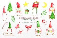Watercolor Christmas Gnomes PNG clipart collection Product Image 3