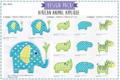 African Animal Applique Embroidery Complete Pack Product Image 1