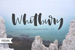 Whitbury, a modern calligraphy script font Product Image 1