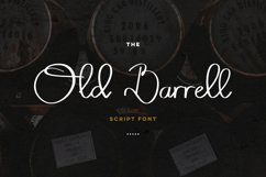 Old Barrell script font Product Image 1