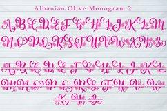 Albanian Olive Monogram   Font Trio Product Image 3