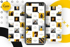 Black and yellow Instagram Puzzle Preset for Canva Product Image 10