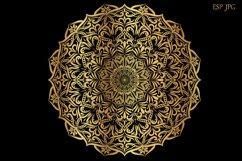 Set of gold mandalas. Lace pattern. Product Image 4