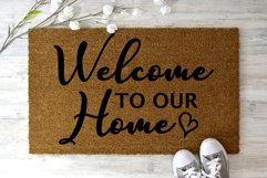 Welcome to Our Home DIY Welcome Doormat SVG, welcome mat svg Product Image 2