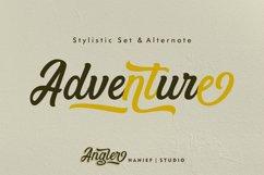 Angler//Modern Script Font Product Image 3