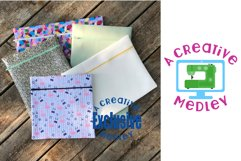 Vinyl Zipper Bag SUPER Set for 4×4 to 9×14.5 in Hoops & Tabs Product Image 6