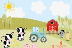 Farm Animals Clipart and Digital Papers Product Image 6