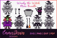 WENDY THE WITCH SVG MINI BUNDLE MANDALA ZENTANGLE DESIGN Product Image 1