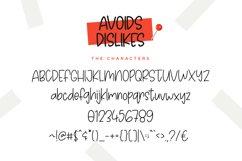 Avoids Dislikes | 3 Handmade Font Product Image 3
