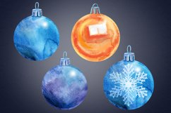 Watercolor Christmas ball clipart Product Image 4