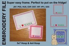 I Love Nana Picture Frames - 4 x 4 and 5 x 7 Hoops Product Image 3