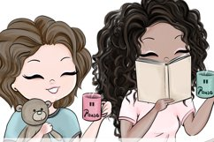 Coffee Break, Girls - Clipart Product Image 3