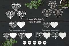 Mandala heart paper cut template | SVG layered hearts bundle Product Image 1