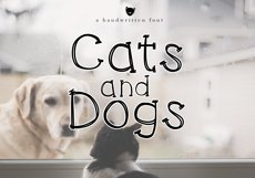 Cats and Dogs - A Cute Handwritten Font Product Image 1