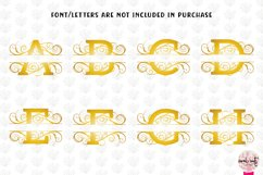 Split Monogram Swirls - A to Z Split Monograms Product Image 3