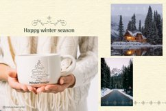 Abstract Linear Christmas Winter wonderland Clipart Product Image 6