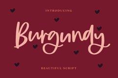 Burgundy - Beautiful Script Font Product Image 1