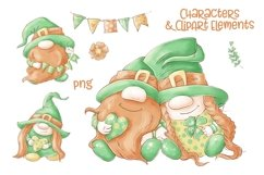 Cute Gnomes for Saint Patrick's Day Product Image 2