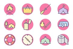 Set Of Camping Icons Product Image 1
