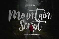 Mountain Script - Brush Fonts Product Image 1