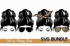 Messy Bun SVG, Messy hair, Hair Bun svg Product Image 1