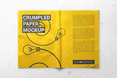 Crumpled A4 Paper / Poster / Flyer Mockup Product Image 3