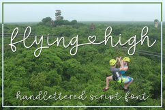 Flying High - a handlettered script font Product Image 1