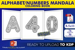 Alphabet & Numbers Mandala Coloring Book | KDP Interior Product Image 1