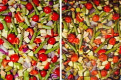 Collage with fresh vegetables Product Image 1