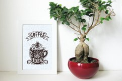 Set of Banners with coffee quotes. Product Image 5