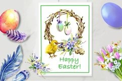 Easter Watercolor Clipart,Easter chick, Product Image 4