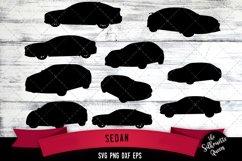 Sedan svg file, car svg cut file, silhouette studio Product Image 1