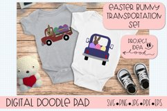 Easter Bunny Truck SVG Cut Files for Cricut and Silhouette Product Image 2